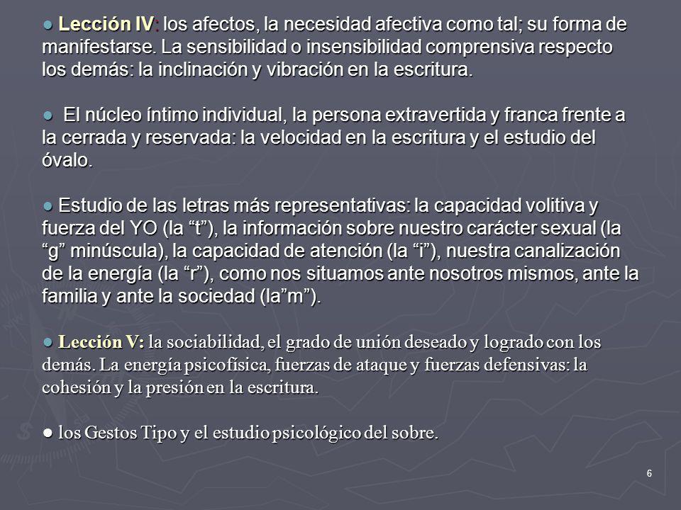 5 Lección II: el YO del escritor, las tendencias personales del escritor. La evaluación del comportamiento en las relaciones interpersonales: el tamañ