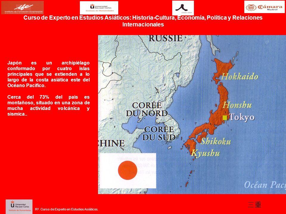 Curso de Experto en Estudios Asiáticos: Historia-Cultura, Economía, Política y Relaciones Internacionales Japón es un archipiélago conformado por cuat