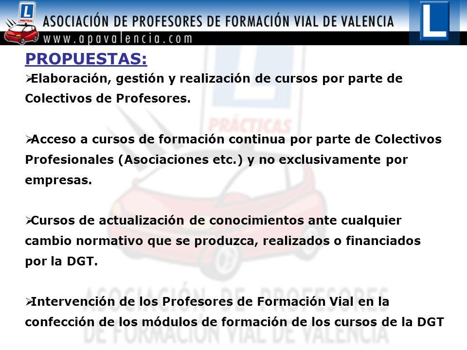Formación Integral de los profesores de Formación Vial con la realización de cursos de formación continua relacionados con el Sector: Cursos de Conducción Defensiva.