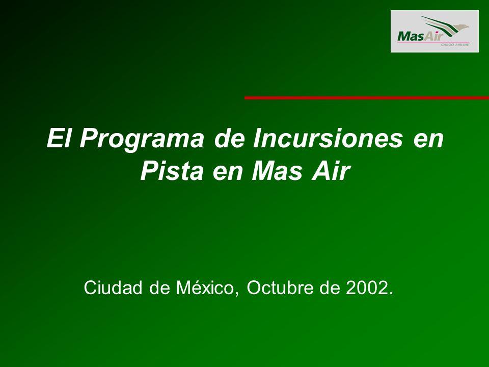 El Programa de Incursiones en Pista en Mas Air Ciudad de México, Octubre de 2002.