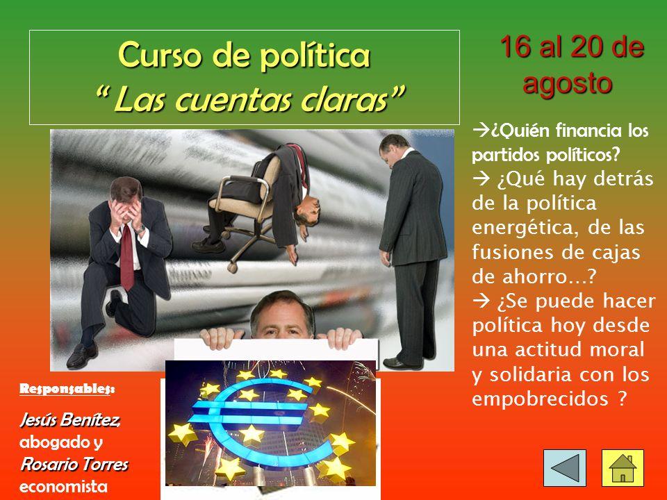 Curso de EDUCACION Educación para la Solidaridad 24-25 de julio 24-25 de julio Análisis de la realidad educativa de España y del Mundo.