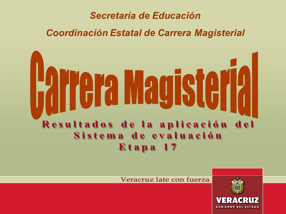 Secretaría de Educación Coordinación Estatal de Carrera Magisterial