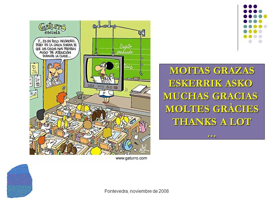 Pontevedra, noviembre de 2008 MOITAS GRAZAS ESKERRIK ASKO MUCHAS GRACIAS MOLTES GRÀCIES THANKS A LOT …