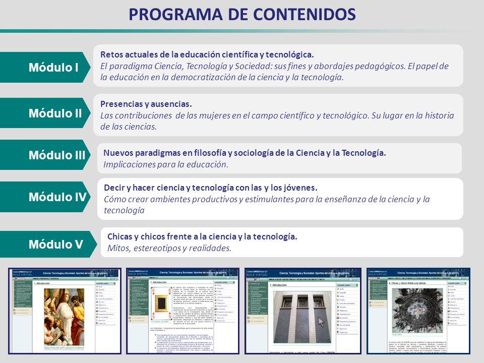PROGRAMA DE CONTENIDOS Retos actuales de la educación científica y tecnológica.