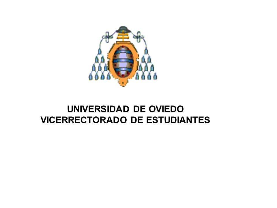 UNIVERSIDAD DE OVIEDO VICERRECTORADO DE ESTUDIANTES