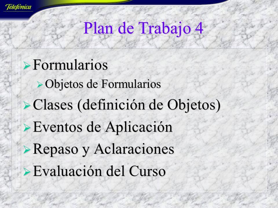 Plan de Trabajo 3 Funciones Predefinidas Funciones Predefinidas Construir Funciones Construir Funciones Complementos *.XLA Complementos *.XLA Depuraci