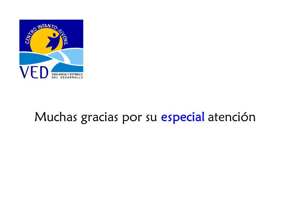 Muchas gracias por su especial atención