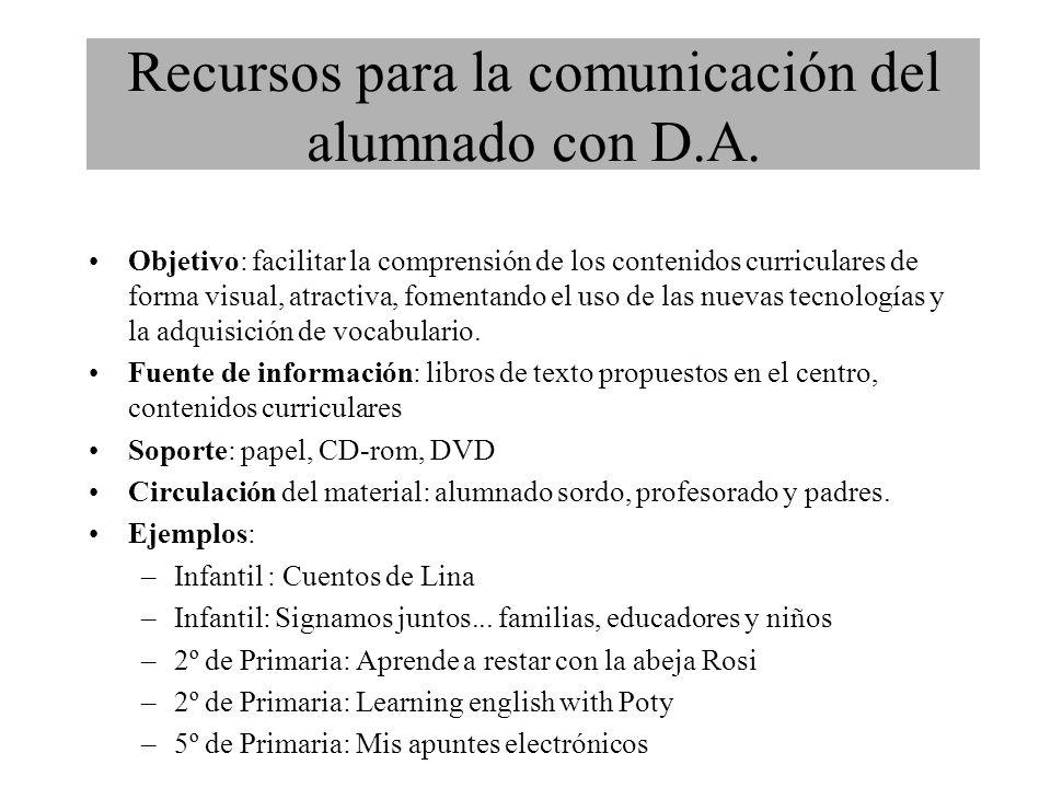 Objetivo: facilitar la comprensión de los contenidos curriculares de forma visual, atractiva, fomentando el uso de las nuevas tecnologías y la adquisición de vocabulario.