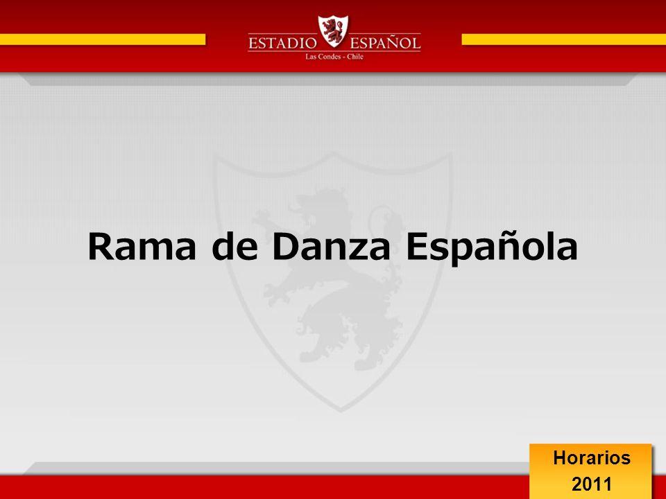 Rama de Danza Española Horarios 2011