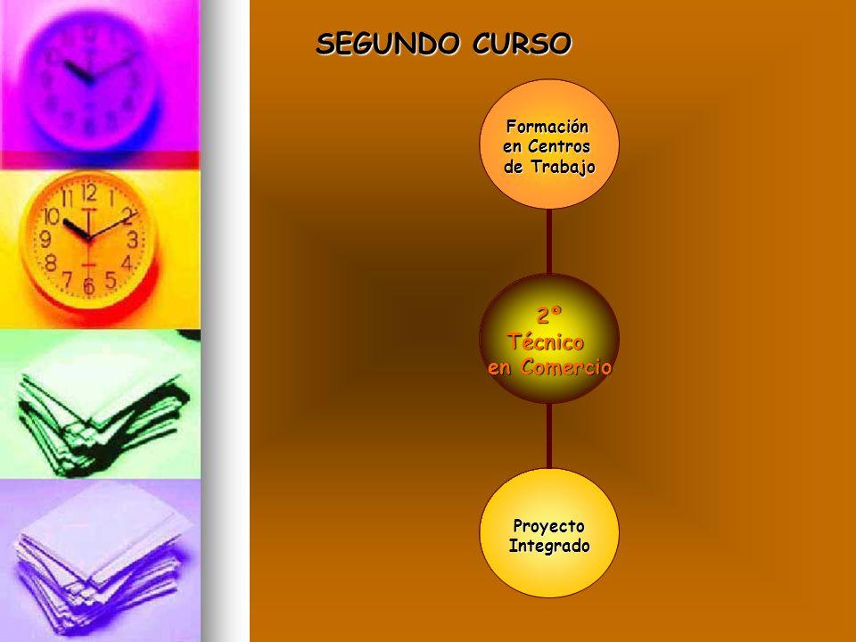 2ºTécnico en Comercio Formación en Centros de Trabajo ProyectoIntegrado SEGUNDO CURSO