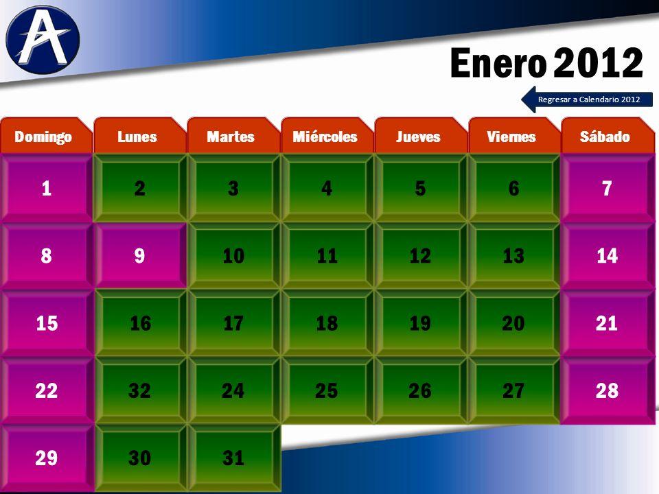 Diciembre 2012 3456728 1011121314915 17181920211622 24/3123/30 MartesLunesDomingoViernesJuevesMiércolesSábado 1 25262728 29 Regresar a Calendario 2012