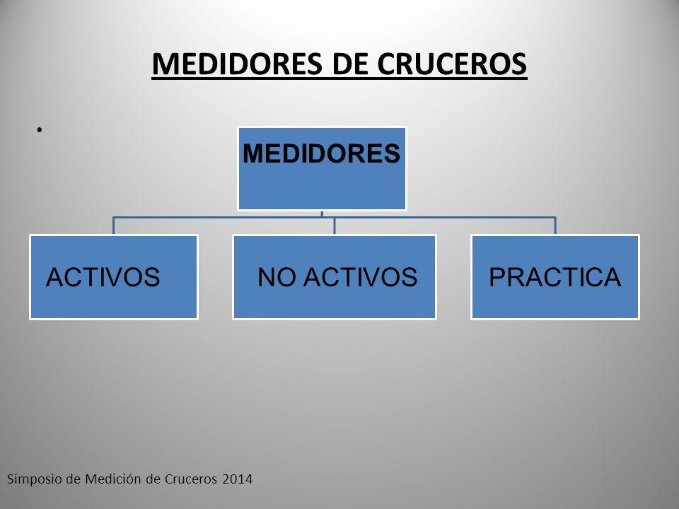 MEDIDORES DE CRUCEROS Simposio de Medición de Cruceros 2014 MEDIDORES ACTIVOS NO ACTIVOSPRACTICA