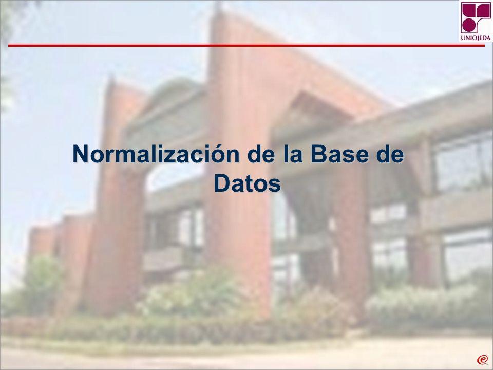 Normalización de la Base de Datos