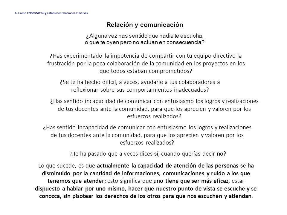 Relación y comunicación ¿Alguna vez has sentido que nadie te escucha, o que te oyen pero no actúan en consecuencia? Lo que sucede, es que actualmente