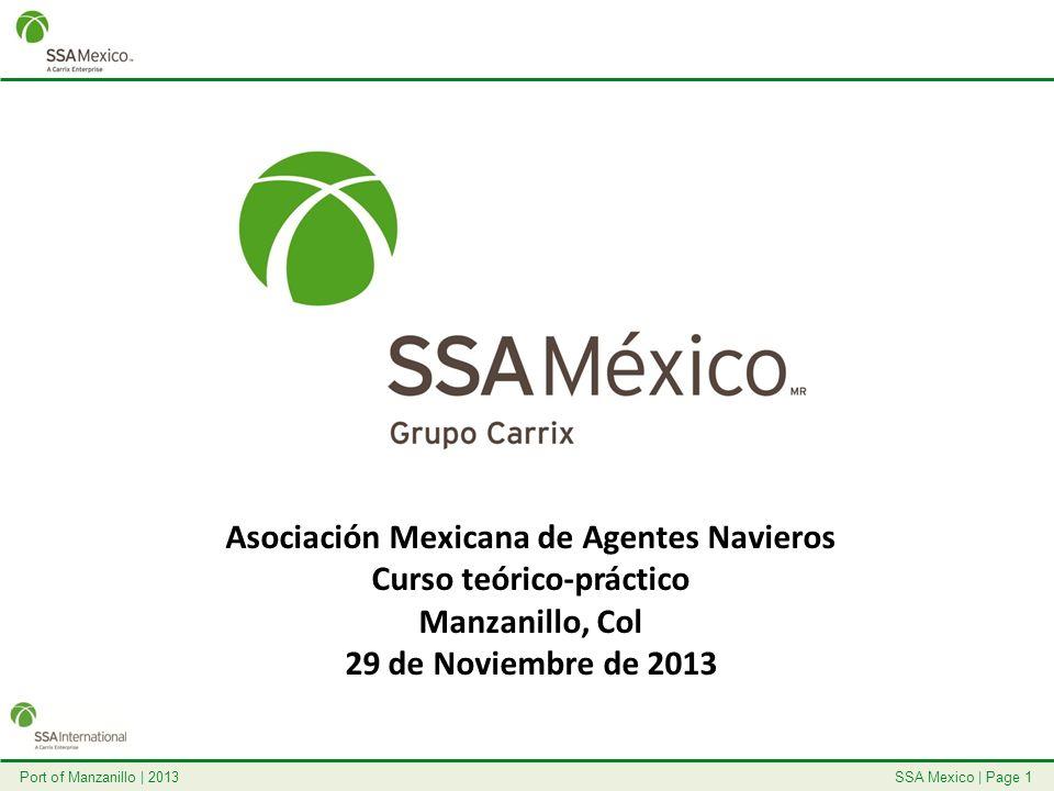 SSA Mexico   Page 1Port of Manzanillo   2013 Asociación Mexicana de Agentes Navieros Curso teórico-práctico Manzanillo, Col 29 de Noviembre de 2013