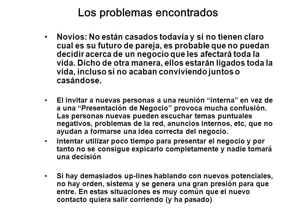 Los problemas encontrados Novios: No están casados todavía y si no tienen claro cual es su futuro de pareja, es probable que no puedan decidir acerca