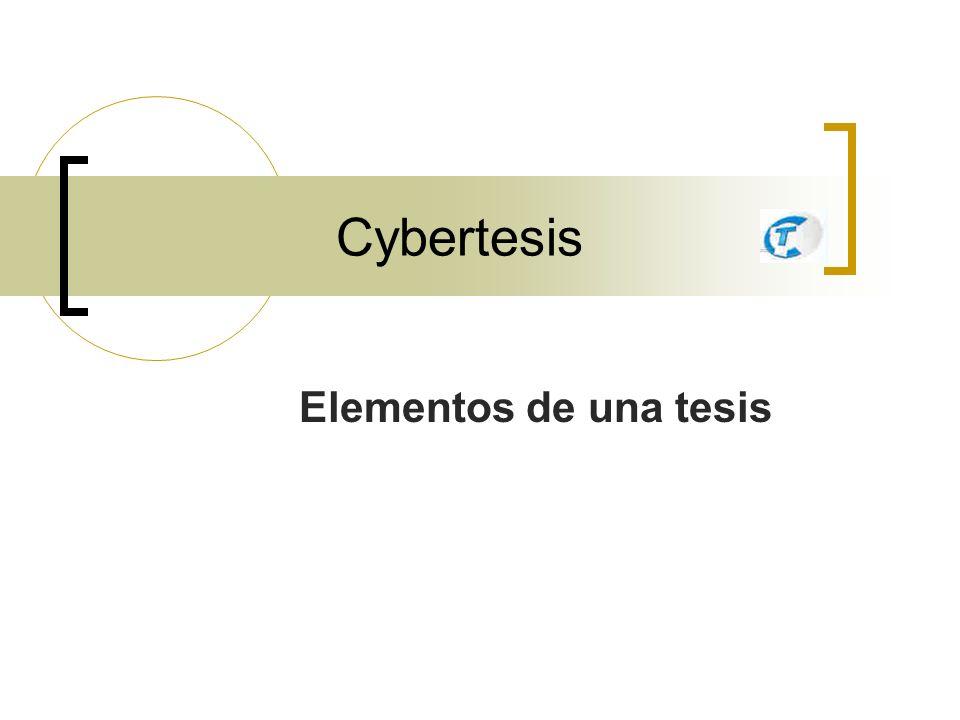 Cybertesis Marcación de la Tesis