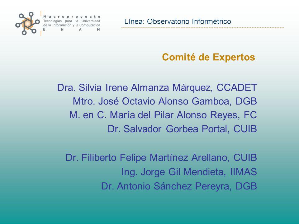 Línea: Observatorio Informétrico Comité de Expertos Dra.