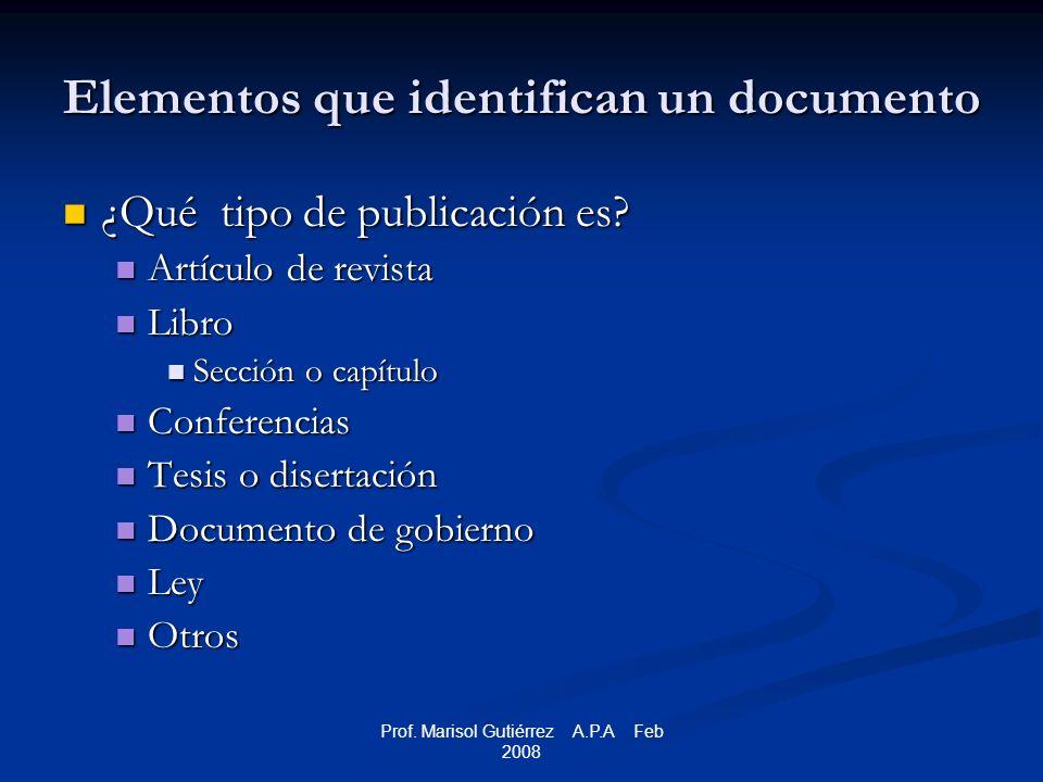 Prof.Marisol Gutiérrez A.P.A Feb 2008 Libros Libro, edición revisada Ander-Egg, E.