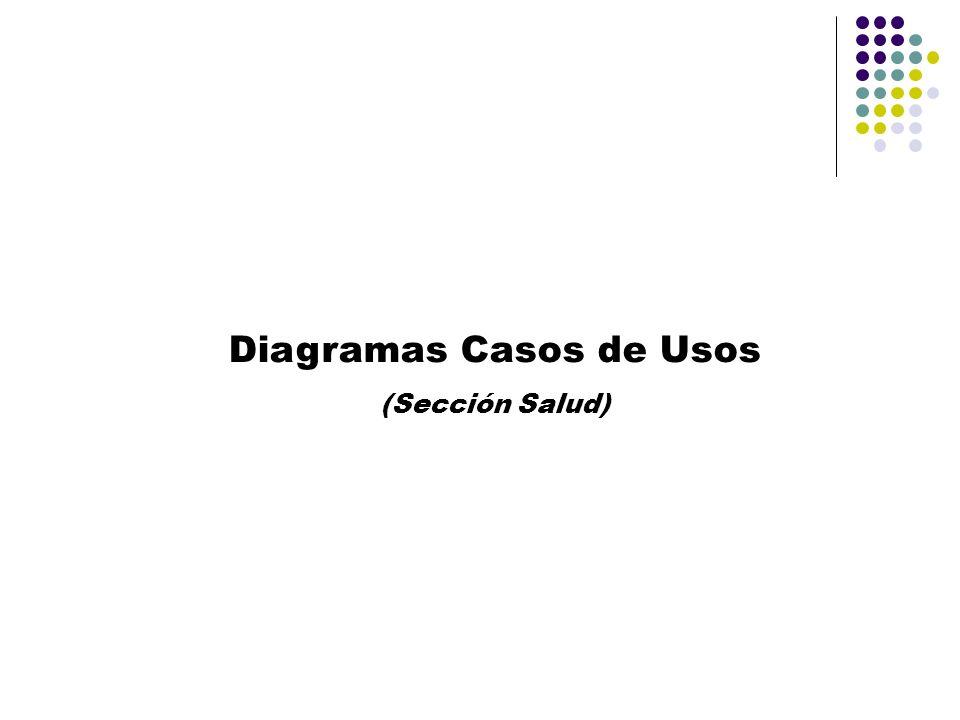 Diagramas Casos de Usos (Sección Salud)