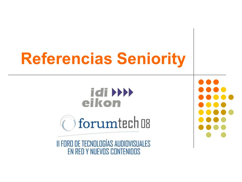Referencias Seniority