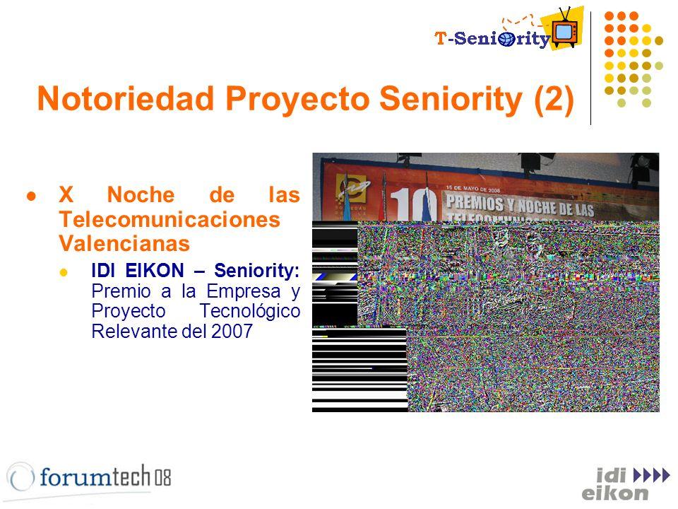 Notoriedad Proyecto Seniority (2) X Noche de las Telecomunicaciones Valencianas IDI EIKON – Seniority: Premio a la Empresa y Proyecto Tecnológico Rele