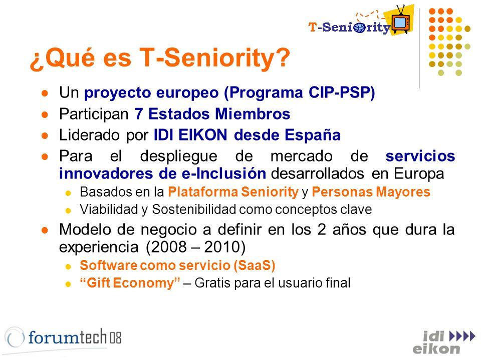 Un proyecto europeo (Programa CIP-PSP) Participan 7 Estados Miembros Liderado por IDI EIKON desde España Para el despliegue de mercado de servicios in