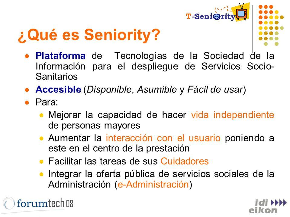 Referencias Plan Avanza Seniority para Todos – Fundación OVSI: Plataforma Telemática de Servicios para mejorar la vida independiente de personas mayores y dependientes.