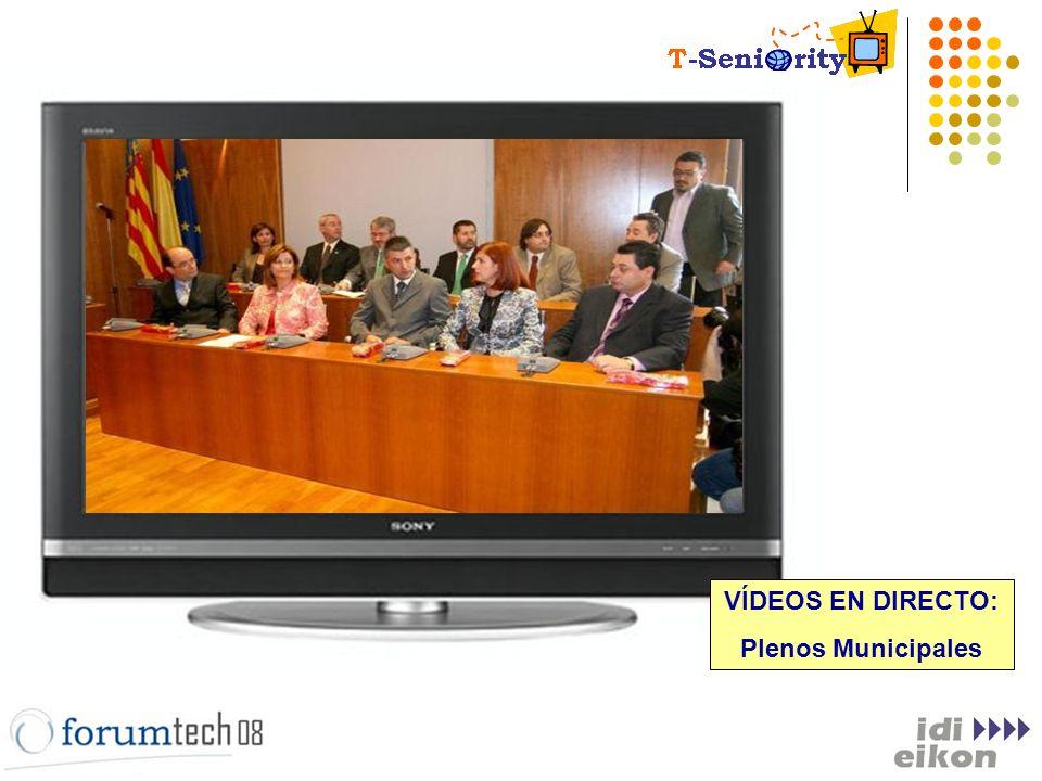 VÍDEOS EN DIRECTO: Plenos Municipales