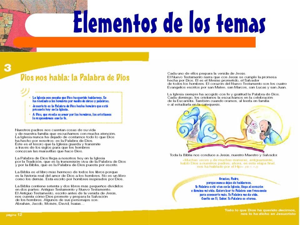Elementos de los temas