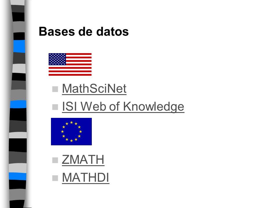 Literatura matemática Dependencia de las búsquedas bibliográficas Dependencia de las publicaciones antiguas En los Annals Math.