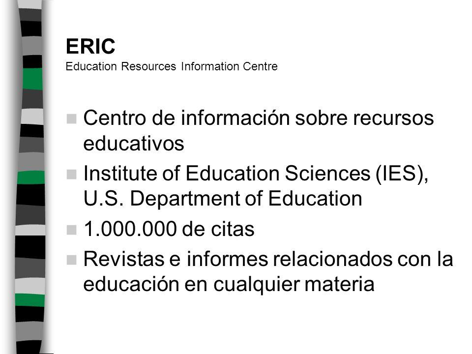 Bases de datos en educación matemática MATHDI ERIC PsycINFO MATH