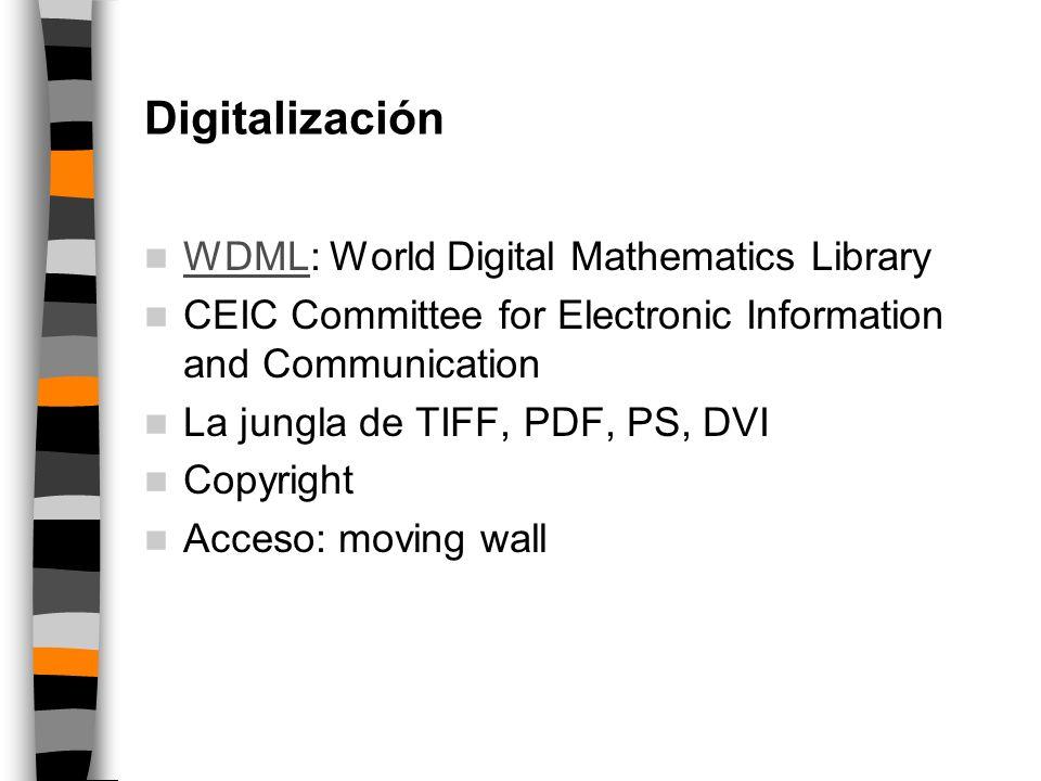 Proyectos de digitalización EMANI JSTOR DML-EU Göttingen Cornell DML-E
