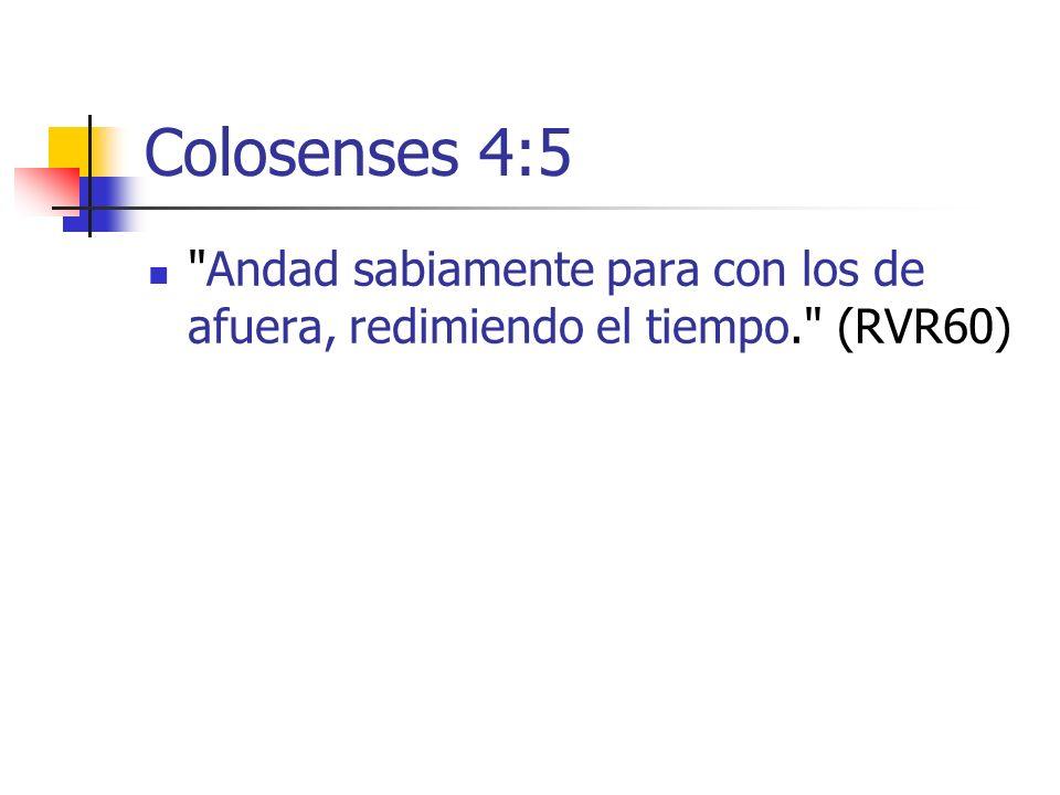 Colosenses 4:5