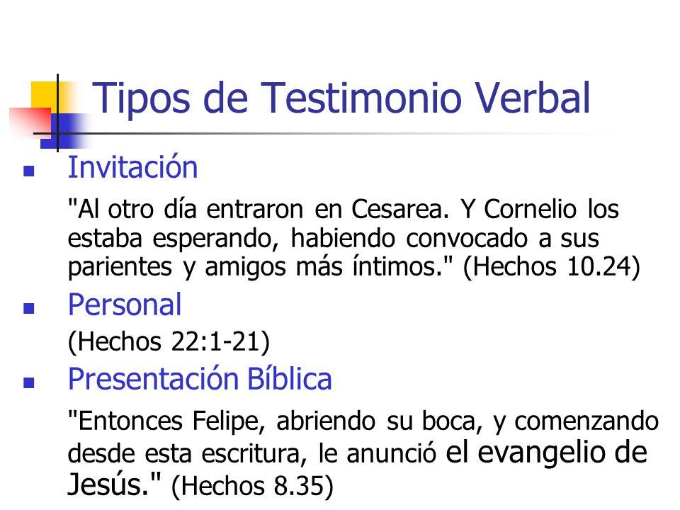 Tipos de Testimonio Verbal Invitación