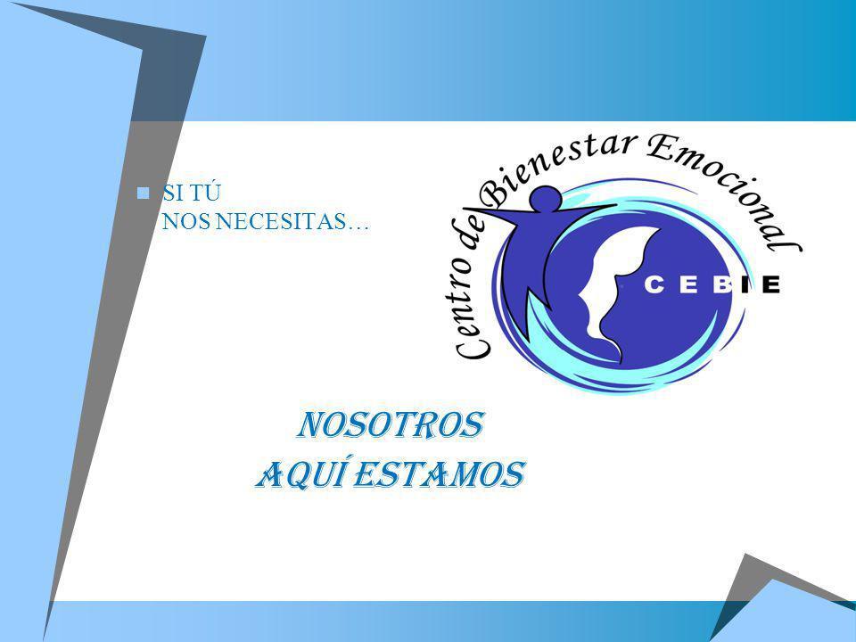 CENTRO DE BIENESTAR EMOCIONAL CEBIE AHORA EN: ESPAÑA LIMA – PERÚ Desde:2011 Desde : 2000 Tf.