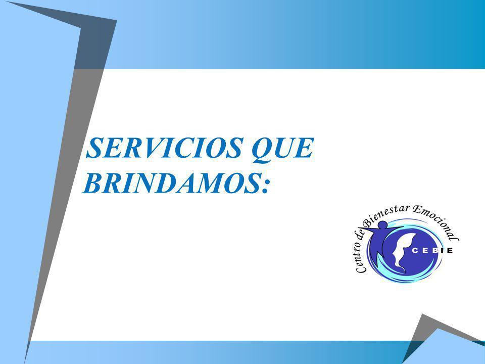 SERVICIOS QUE BRINDAMOS: