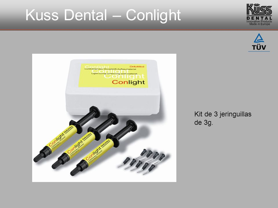 Kuss Dental – Conlight Kit de 3 jeringuillas de 3g.