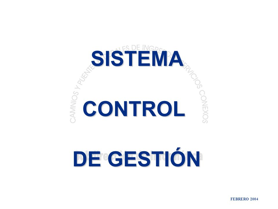 FEBRERO 2004 SISTEMA CONTROL DE GESTIÓN