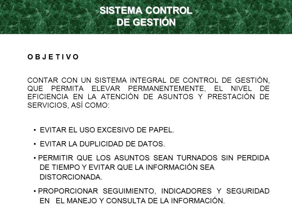 CONTROL DE ASUNTOS