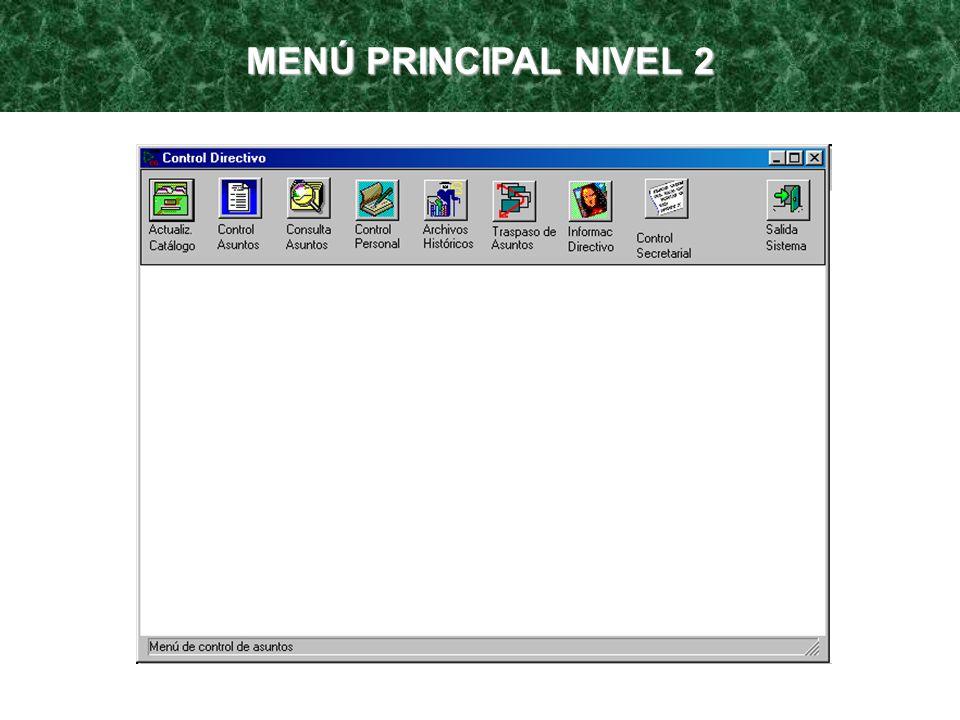 MENÚ PRINCIPAL NIVEL 2