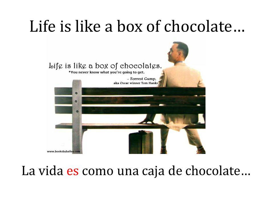 Life is like a box of chocolate… La vida es como una caja de chocolate…