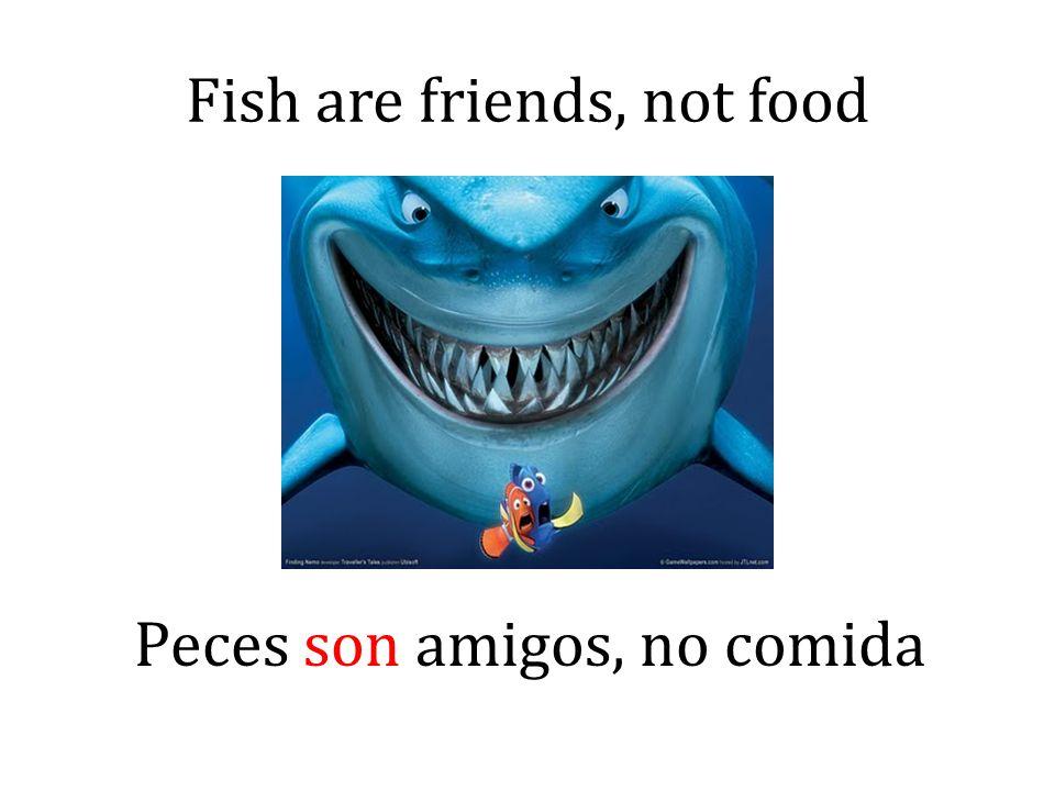 Fish are friends, not food Peces son amigos, no comida
