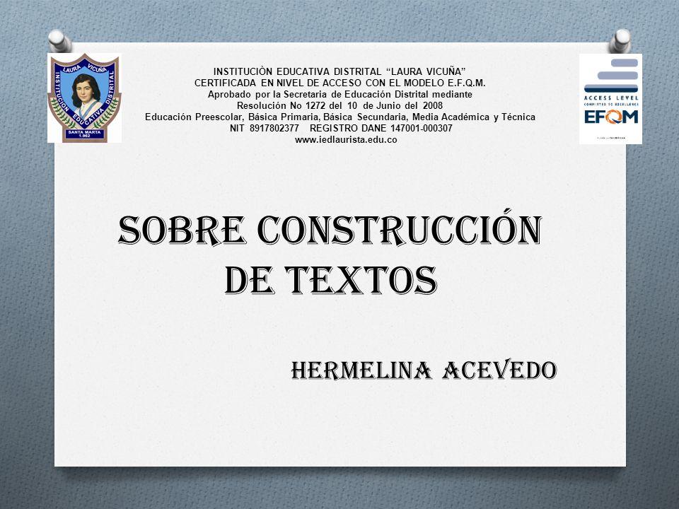 INSTITUCIÒN EDUCATIVA DISTRITAL LAURA VICUÑA CERTIFICADA EN NIVEL DE ACCESO CON EL MODELO E.F.Q.M.