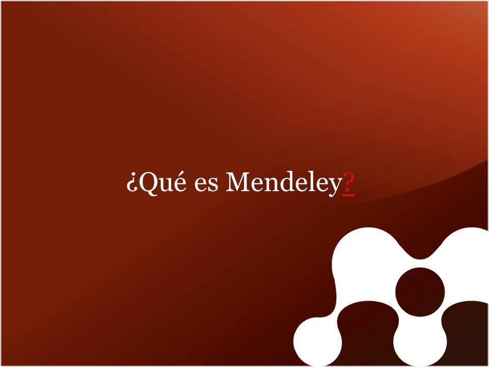 ¿Qué es Mendeley??