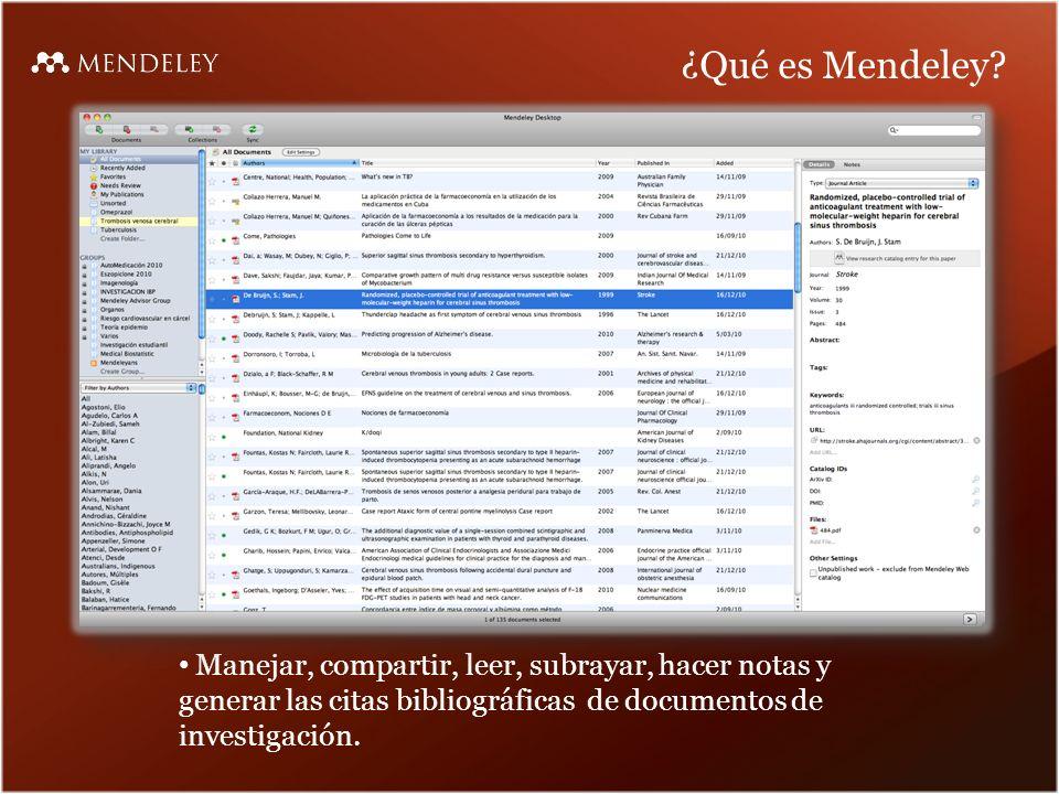 ¿Qué es Mendeley.