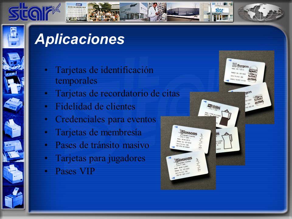 Tarjetas de identificación temporales Tarjetas de recordatorio de citas Fidelidad de clientes Credenciales para eventos Tarjetas de membresía Pases de tránsito masivo Tarjetas para jugadores Pases VIP Aplicaciones