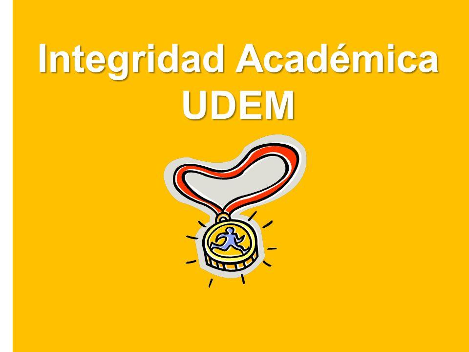 Integridad Académica UDEM