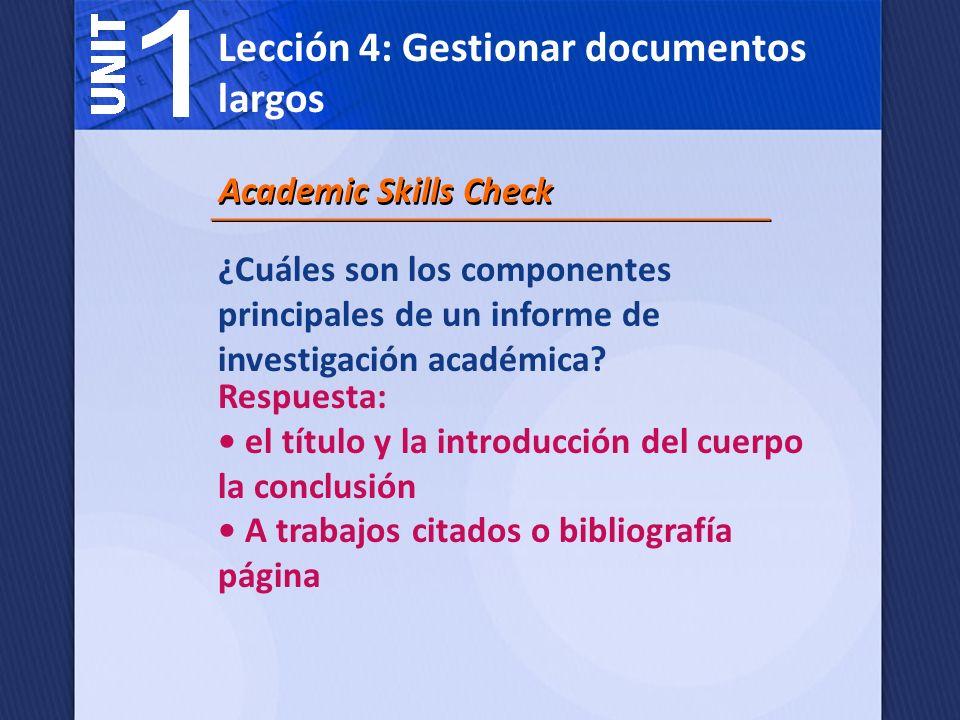 ¿Cuáles son los componentes principales de un informe de negocios.