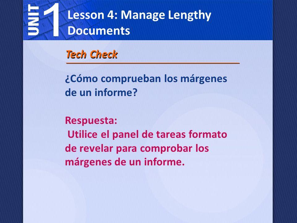 Lección 4: Gestionar documentos largos Al escribir un artículo de investigación, dar crédito adecuado a las fuentes de sus ideas en una bibliografía o trabajos citados página.